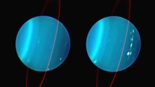 Vývoj bouře v atmosféře Uranu
