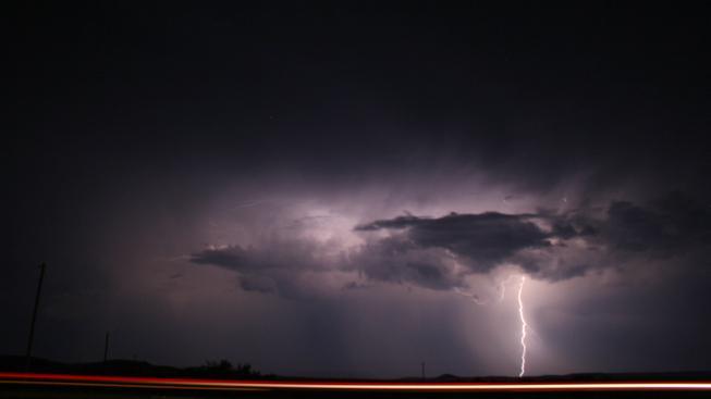 Bouřkový mrak nad Texasem