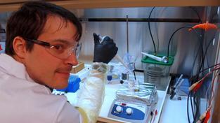 O své práci přednášel Martin Přeček v rámci Science Café