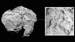 Po pečlivém zvážení všech pro a proti bylo k přistání vybráno čelo komety