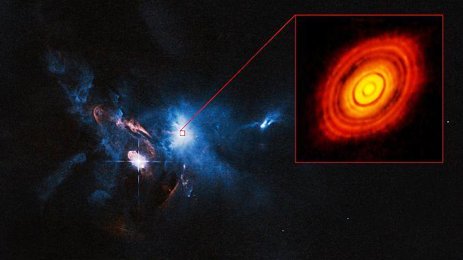 Za mezihvězdnou mlhou se ukrývá zárodek nové sluneční soustavy