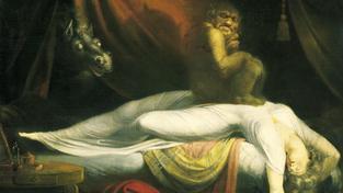 Takhle si noční můru, drtící usínajícího člověka, představoval švýcarský malíř Henry Fuseli