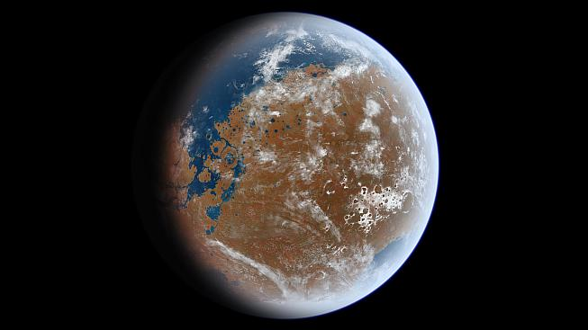 Jak možná vypadal Mars před miliardami let