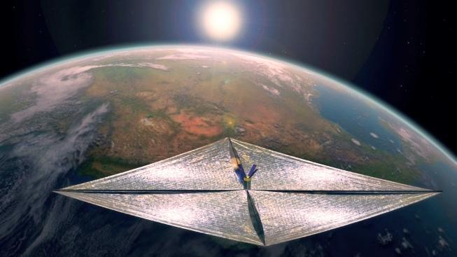 Koncept hvězdného plachtění připomíná vypouštění draka, ale v kosmu