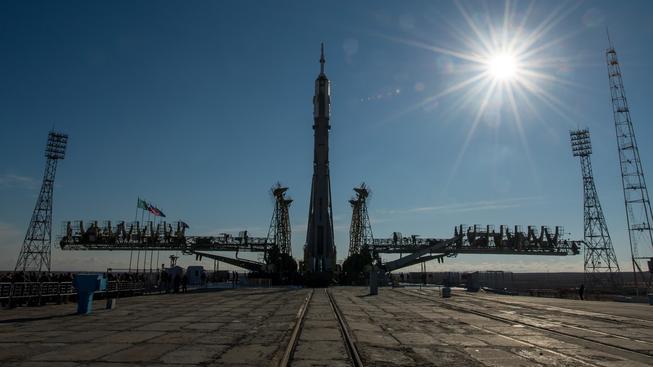 Start vesmírného plavidla z kosmodromu Bajkonur z 25. května 2015