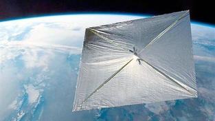 Odeslaná telemetrie naznačuje, že plachetnice plně rozvinula všechny své plachty