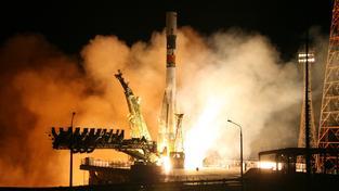 Start Sojuzu s lodí Proton. Ilustrační snímek