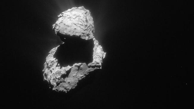 Kometa 67P letos v dubnu z pohledu sondy Rosetta