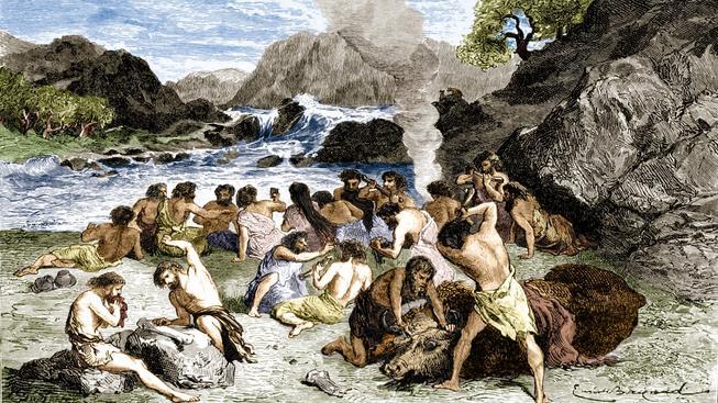 Takto mohla vypadat pravěká kultura v oblasti, kde se dnes nachází Severní moře. Ilustrační foto