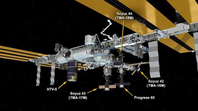 Přistání Sojuzu TMA-18 na ISS