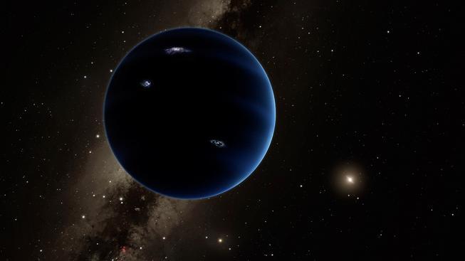 Umělecká představa, jak by mohla vypadat devátá planeta