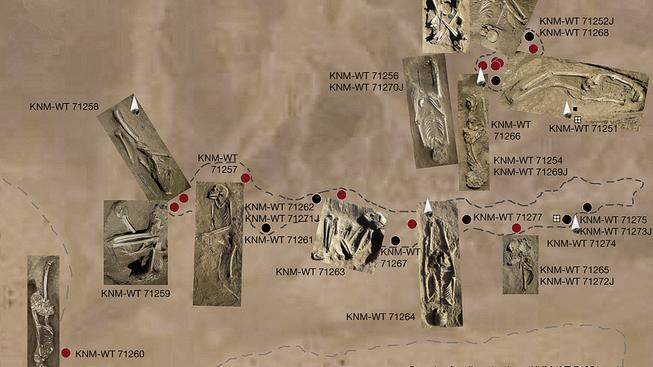 Pozůstatky nejméně sedmadvaceti jedinců v nalezišti Nataruk