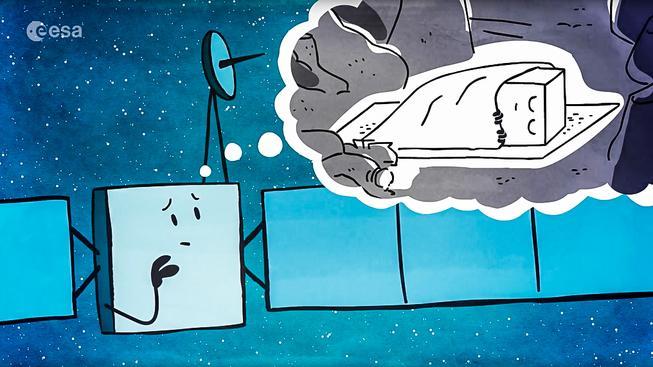 Evropská vesmírná agentura se se sondou už rozloučila, mimo jiné sérií obrázků...