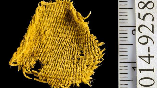 Fragment vlněné látky typickou pro doba železná v údolí Timna