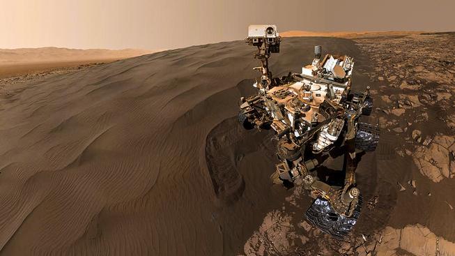 Autoportrét zvídavého vozítka na Marsu