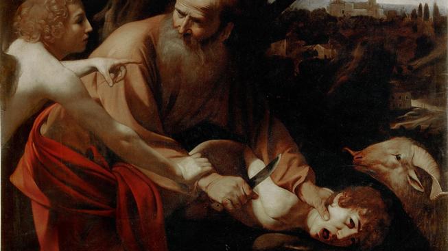 Obětování Izáka, Caravaggio