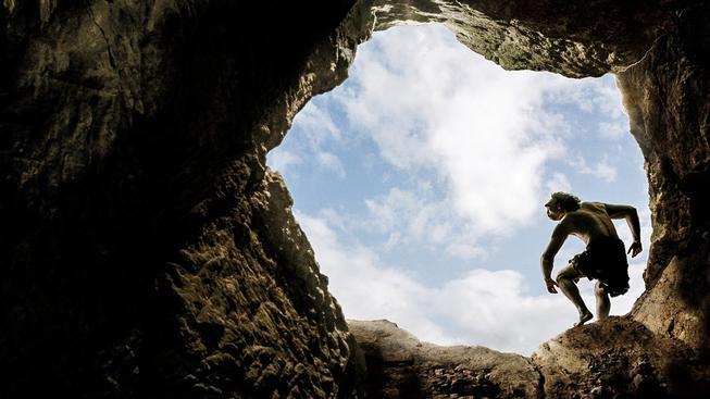 Neandertálec v jeskyni