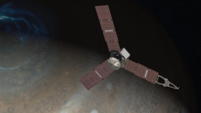 Sondu Juno čeká odvážný manévr, začne kroužit kolem Jupiteru
