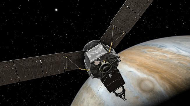 Sonda Juno se dostala na oběžnou dráhu. Její cesta byla projektem buď, anebo