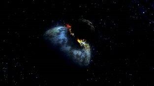 Šokující vznik měsíce? Ilustrace z dílny ESA