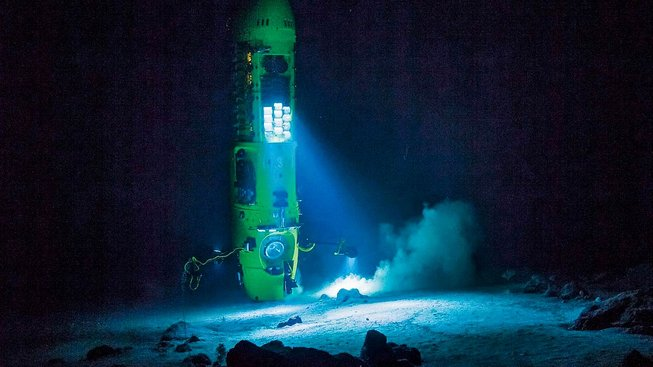 Ponorka Deepsea Challenger, s níž slavný režisér James Cameron sestoupil v roce 2012 na dno Mariánského příkopu