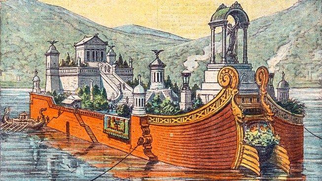 Tak nějak mohly vypadat Caligulovy plovoucí paláce