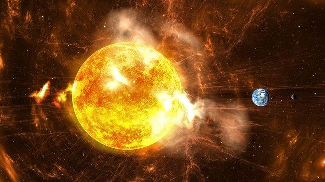 Jak se šíří 'sluneční bouře' napříč soustavou?