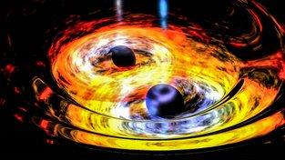Vizualizace kolize černých děr