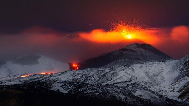 Etna straší nejen obyvatele Sicílie téměř neustále