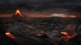 Erupce sedmé kategorie mohou způsobit události přibližující se apokalypse. Ilustrační snímek