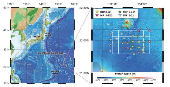 Naleziště popsané v japonské geologické studii
