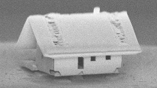 Domeček má rozměr pouhých 300x300 mikronů