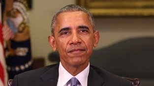 Bývalý americký prezident Barack Obama z video montáže komika Jordana Peeleho