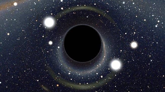 Okolí černé díry podle představ Alaina Riazuela