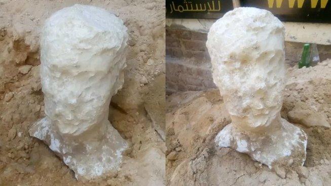 Busta nalezená u sarkofágu