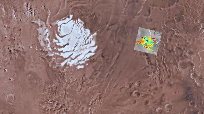Skenovaná oblast Marsu