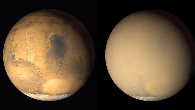 Prachová bouře na Marsu
