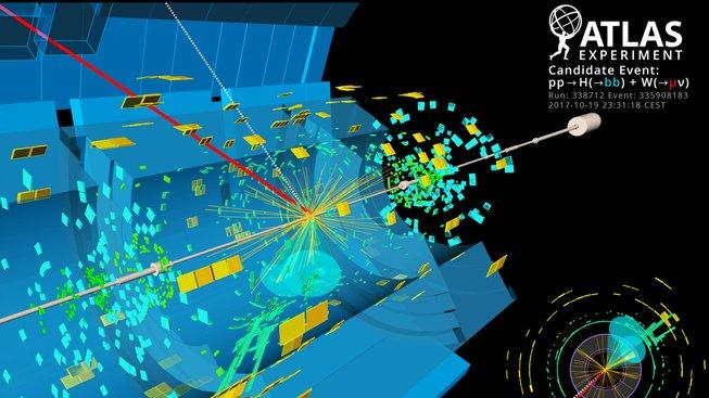 Ilustrace rozpadu Higgsova bosonu