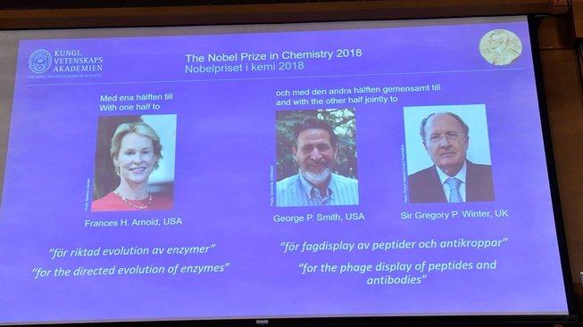 Letošní nositelé a nositelka Nobelovy ceny