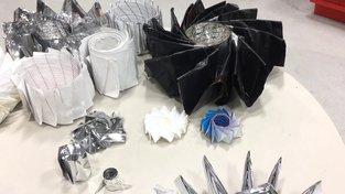 Součástky kosmických sond vyvinuté s prvky origami