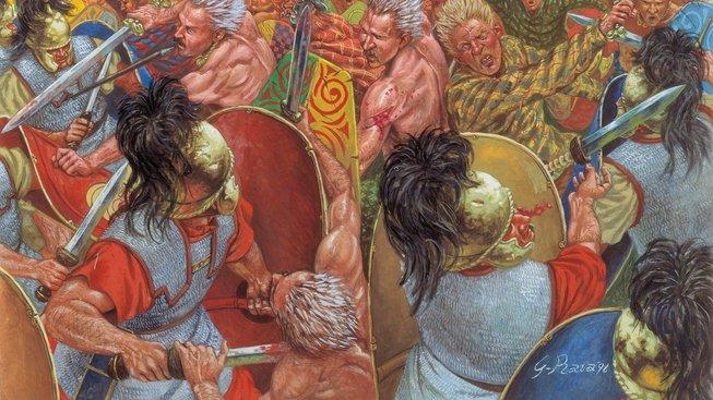 Ilustrace bitvy u Gergovie