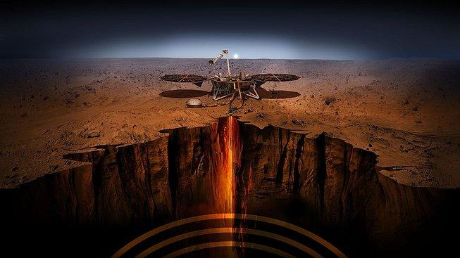 Sonda InSight v umělecké představě