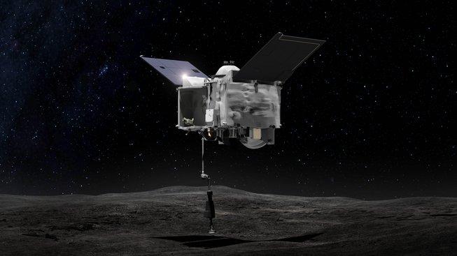 Umělecká představa sondy OSIRIS-REx