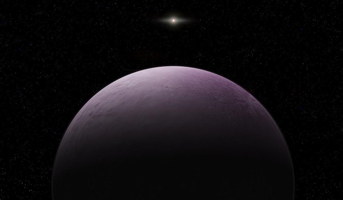 Nově objevená trpasličí planeta VG18