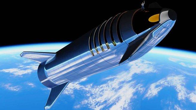 Hypotetická vizualizace Starship z dílny fanouška AlienWannabe