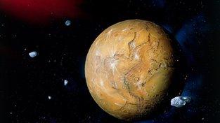 Umělecká představa Země za pět miliard let