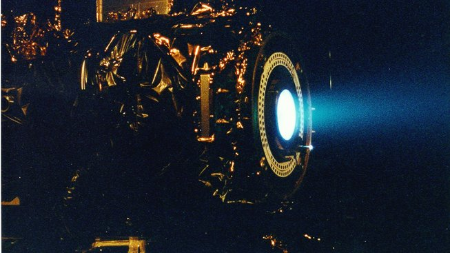 Iontový motor. Ilustrační snímek