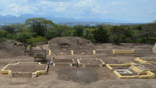 Obrysy chrámu nalezeného v Mexiku