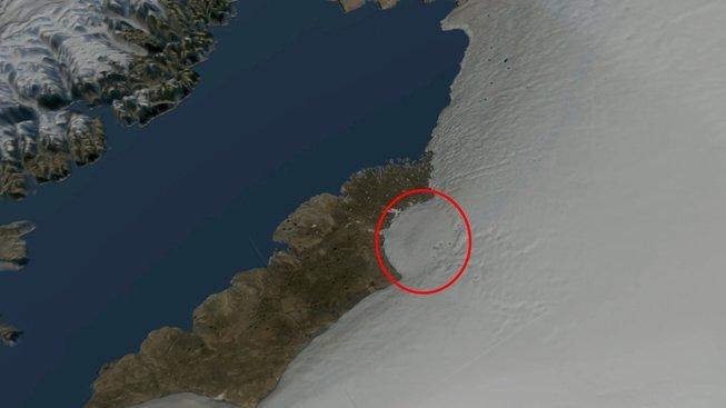 První objevený kráter Hiawatha