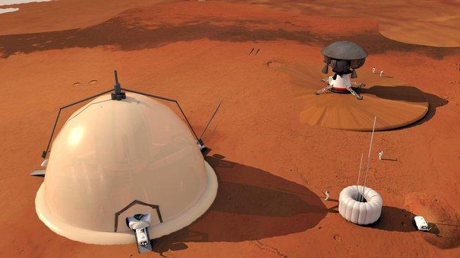 Umělecká představa kolonizace Marsu